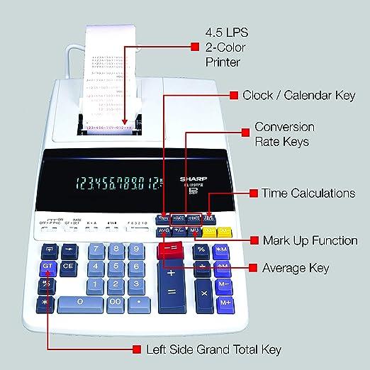 Sharp EL-1197PIII calculator - calculators (Pocket, Printing