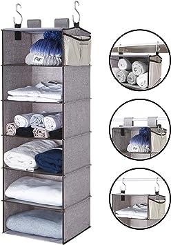 Amazon Com Storageworks 6 Shelf Hanging Closet Organizer