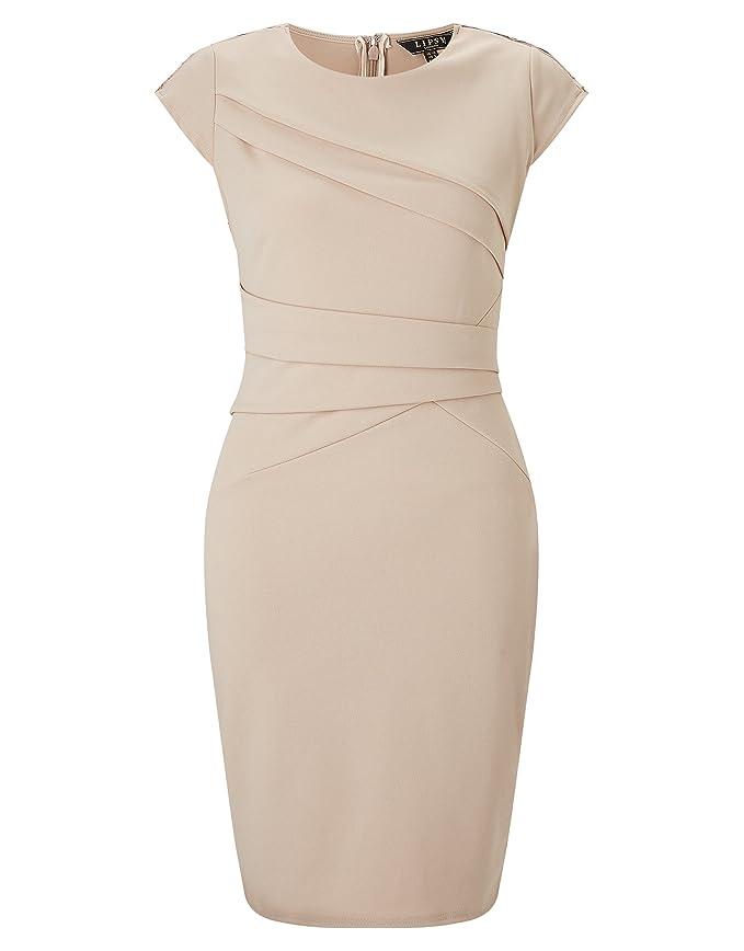 Lipsy Damen Love Michelle Keegan Figurbetontes Kleid Ösendetail Kurzarm  Rundhals 48 Nue: Amazon.de: Bekleidung