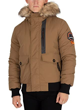on sale 0832d 1f7e8 Superdry Herren Everest Parka Bomberjacke, Beige: Amazon.de ...