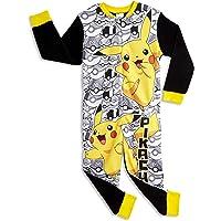 Pijamas Pikachu de un Pieza Niño Niña, Talla 7-8 Años