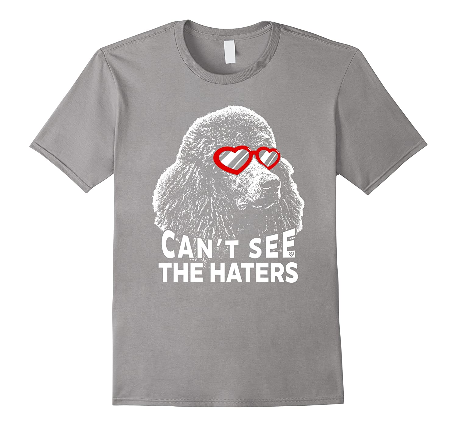 Poodle Shirt Can't See The Haters Funny Dog Lovers Tee
