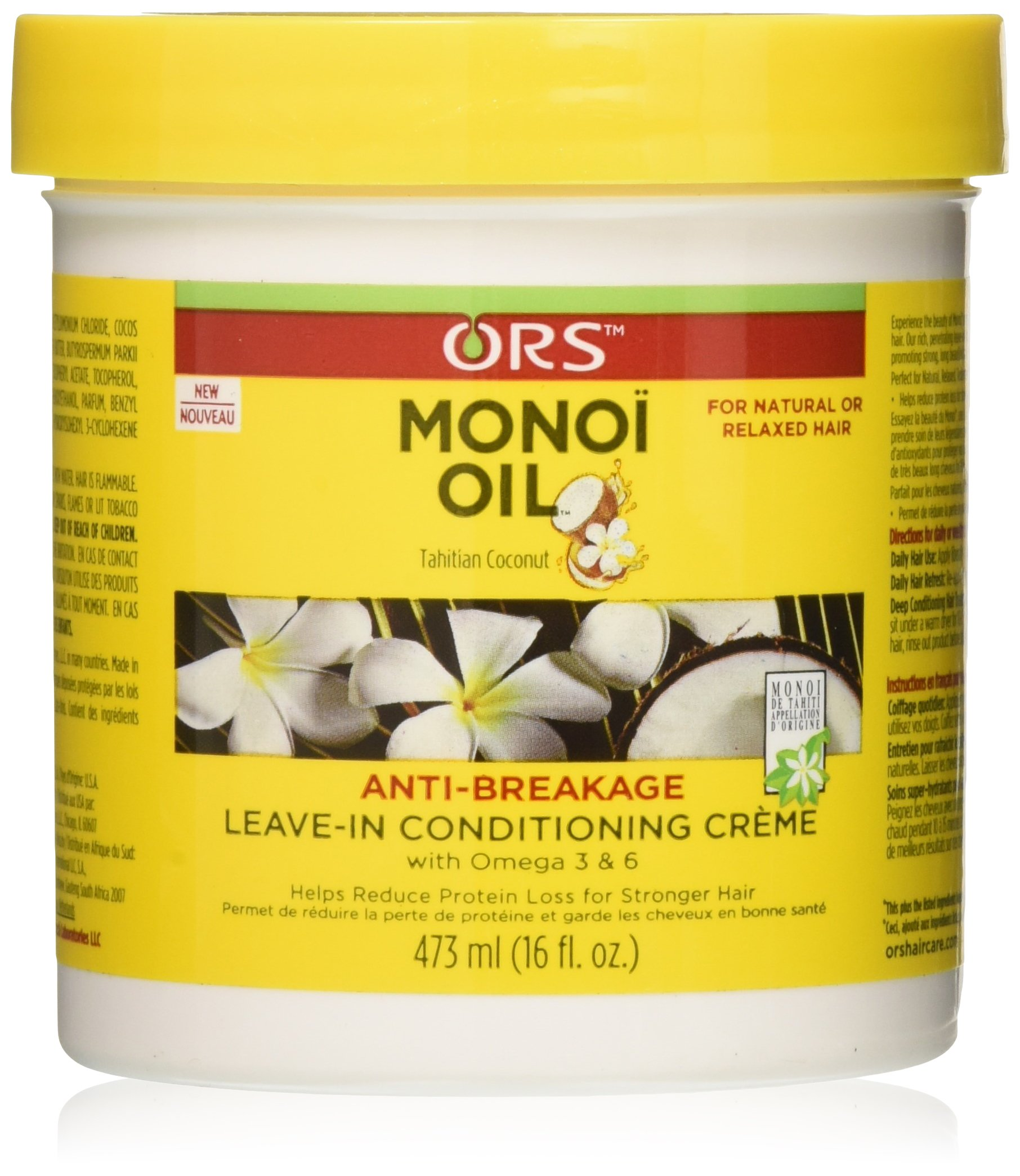 ORS Monoi Oil Anti-Breakage Leave-in Conditioning Creme, 16 Ounce