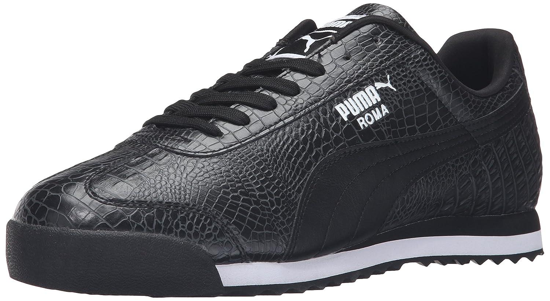 Puma Zapatos Roma Hombres En Blanco Y Negro ceZw5aMRo