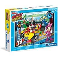 Clementoni 08514 Supercolor Puzzle Mickey And The Roadster Racers Disney, 30 Parça