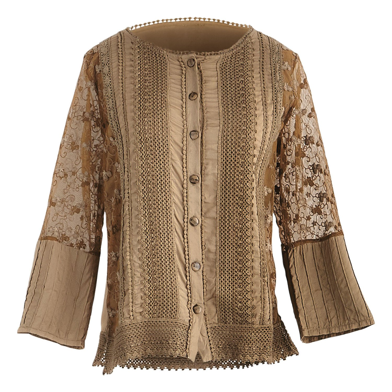 Parsley & Sage Women's Anastasia Cardigan - Open Front Fashion Sweater Jacket - Cognac - 3X -Size 22-24