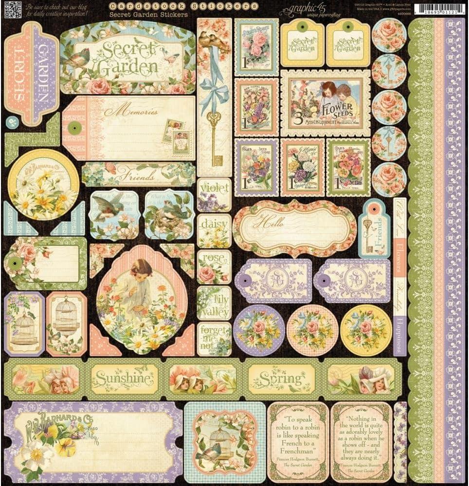 Graphic 45 Secret Garden Stickers