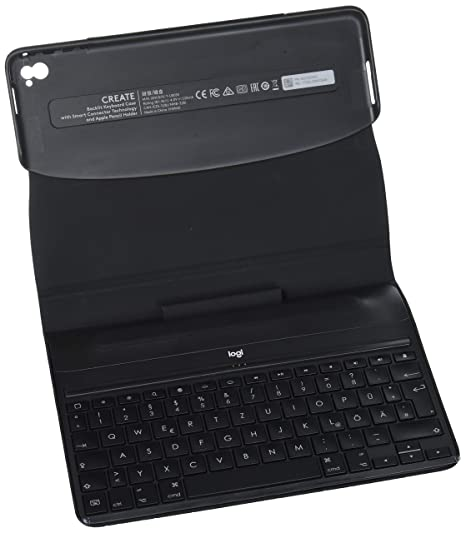 Logitech Create - Funda con teclado inalámbrico retroiluminado y tecnología Smart Connector (compatible con iPad