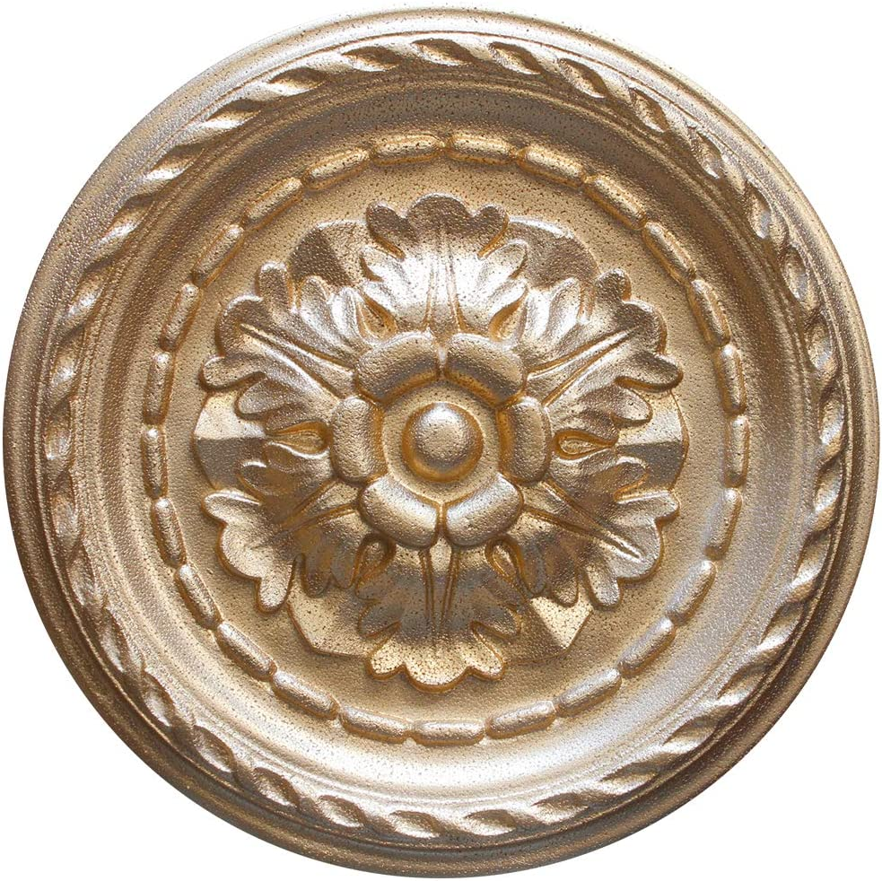 1 roset/ón de decoraci/ón interior de EPS de color dorado.