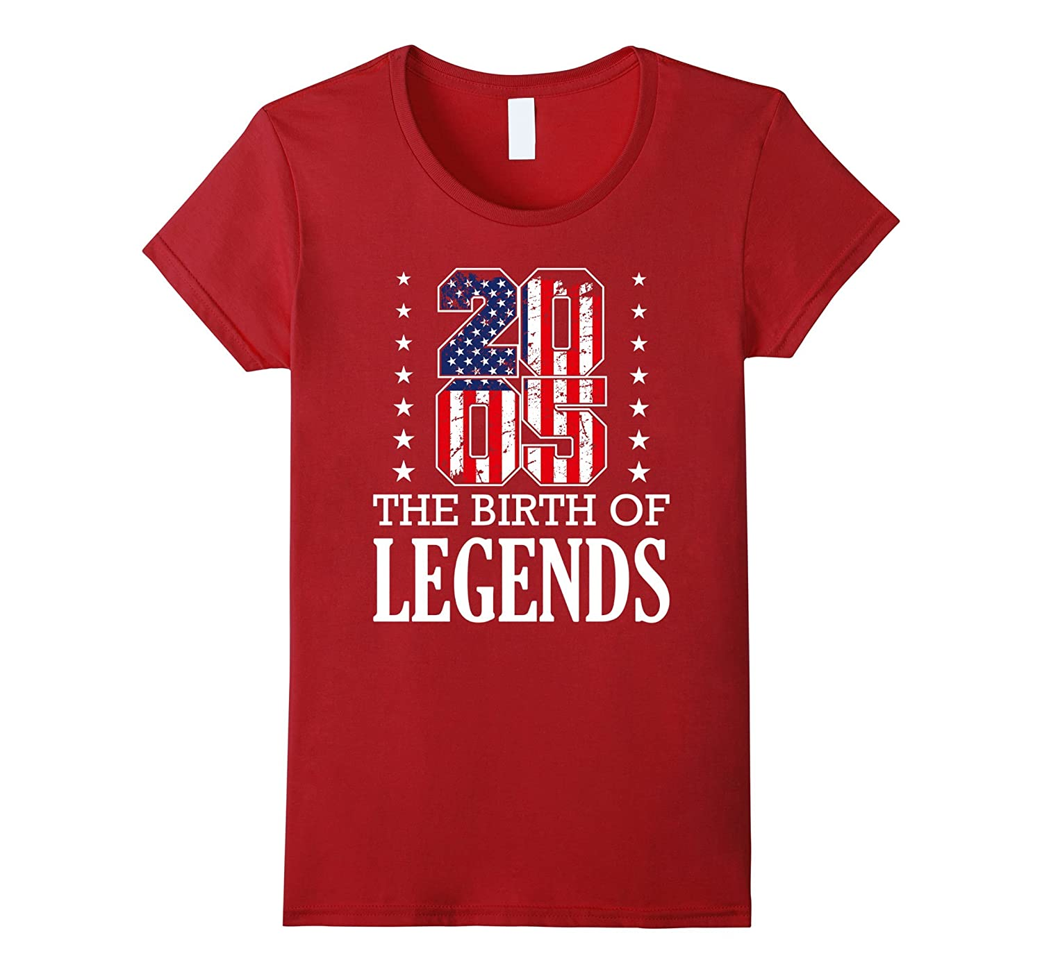 13th Birthday Gift Idea American Flag Made in 2004 T-Shirt
