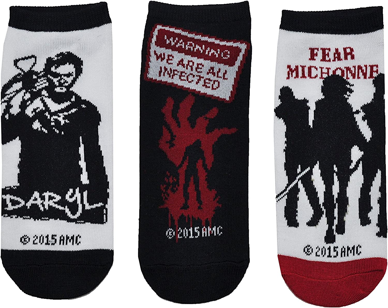 Amazon.com: The Walking Dead calcetines de corte bajo (6 ...