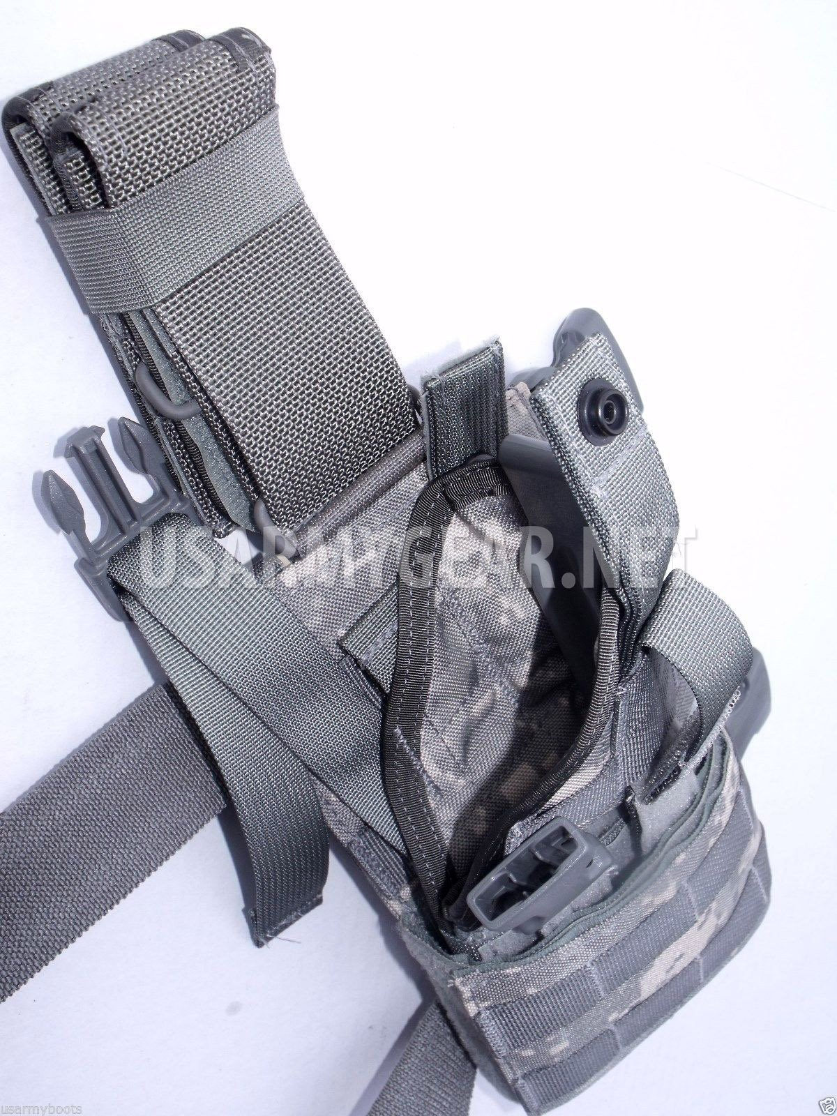 New Made in USA Army Military ACU Digital Camo Airsoft Drop Leg Restraints MOLLE Universal UH-92F-MS-UCA Holster Set Extension + Straps Eagle by Eagle Industries U.S. Government