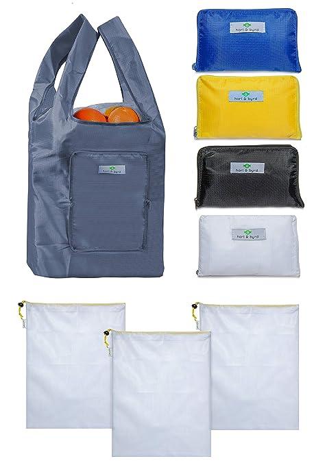 Amazon.com: 5 bolsas de la compra reutilizables y duraderas ...