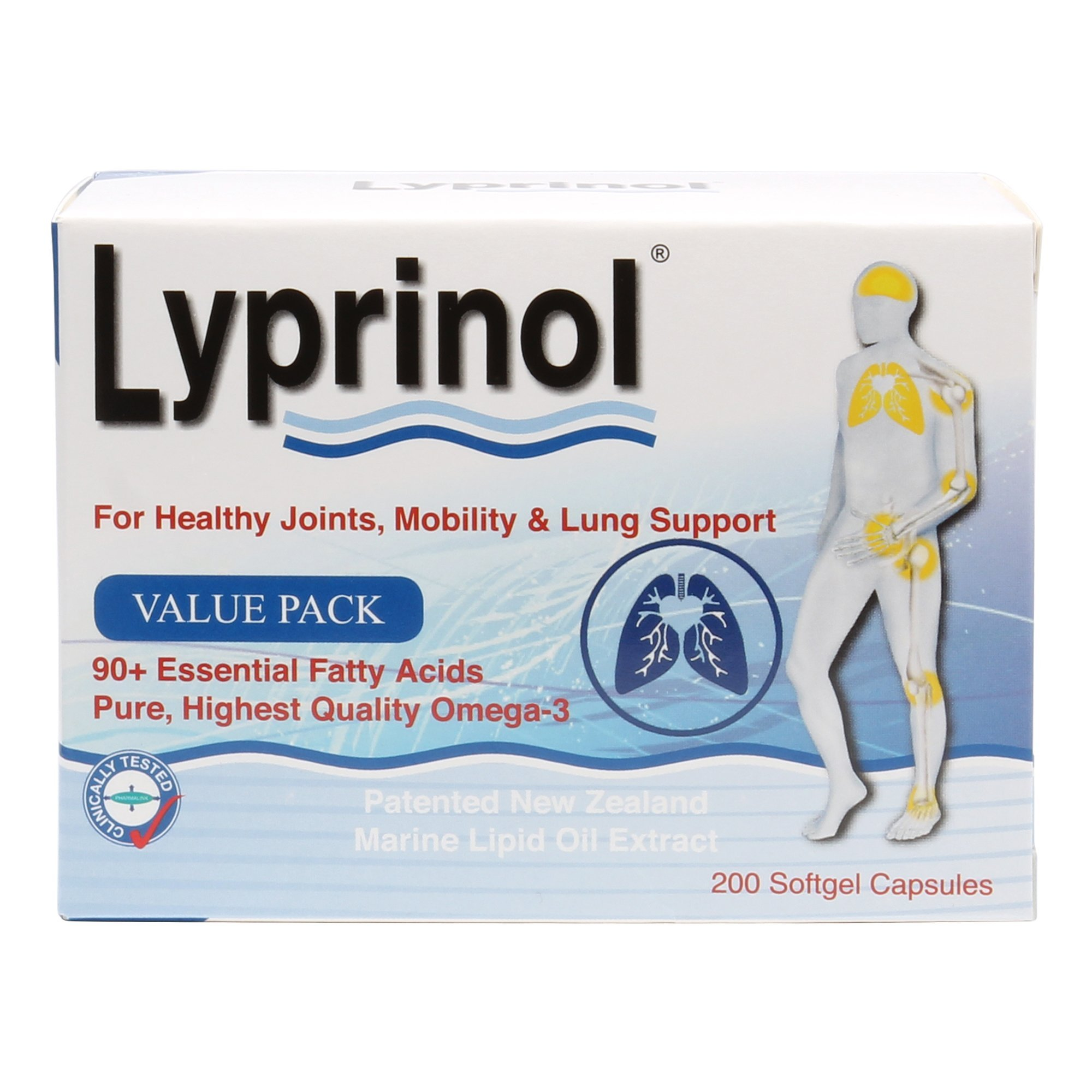 Pharma Lyprinol® Pcso-524® 200 Capsules New Zealand Green Lipped Mussel Extract Oil Joint Health Support & Mobility by Lyprinol