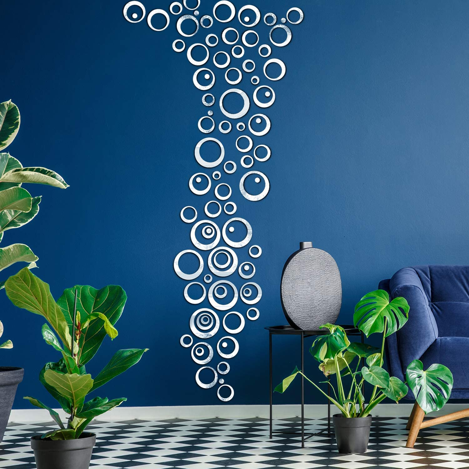 DIY Round Acrylic Mirror Effect Sticker Removable Wall Sticker Home Decor //ND