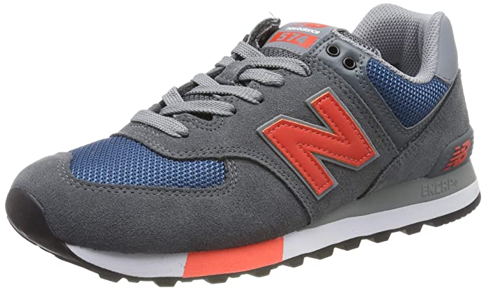 New Balance 574v2 Sneakers Herren Grau/Blau/Orange