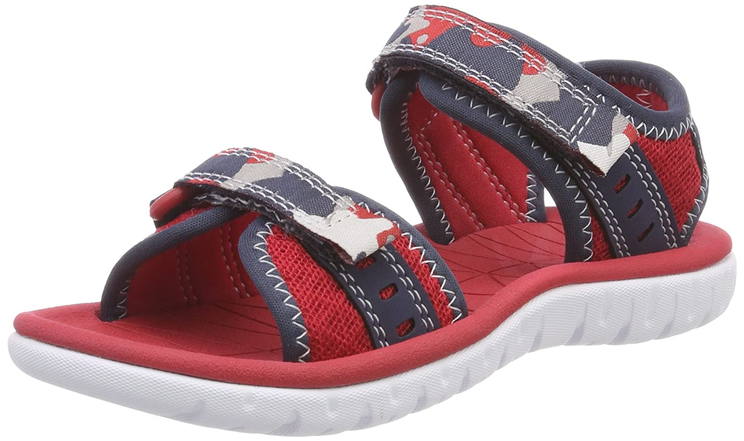 c24b0300120 Clarks Surfing Coast Textile Sandals in Blue Combi  Amazon.co.uk  Shoes    Bags