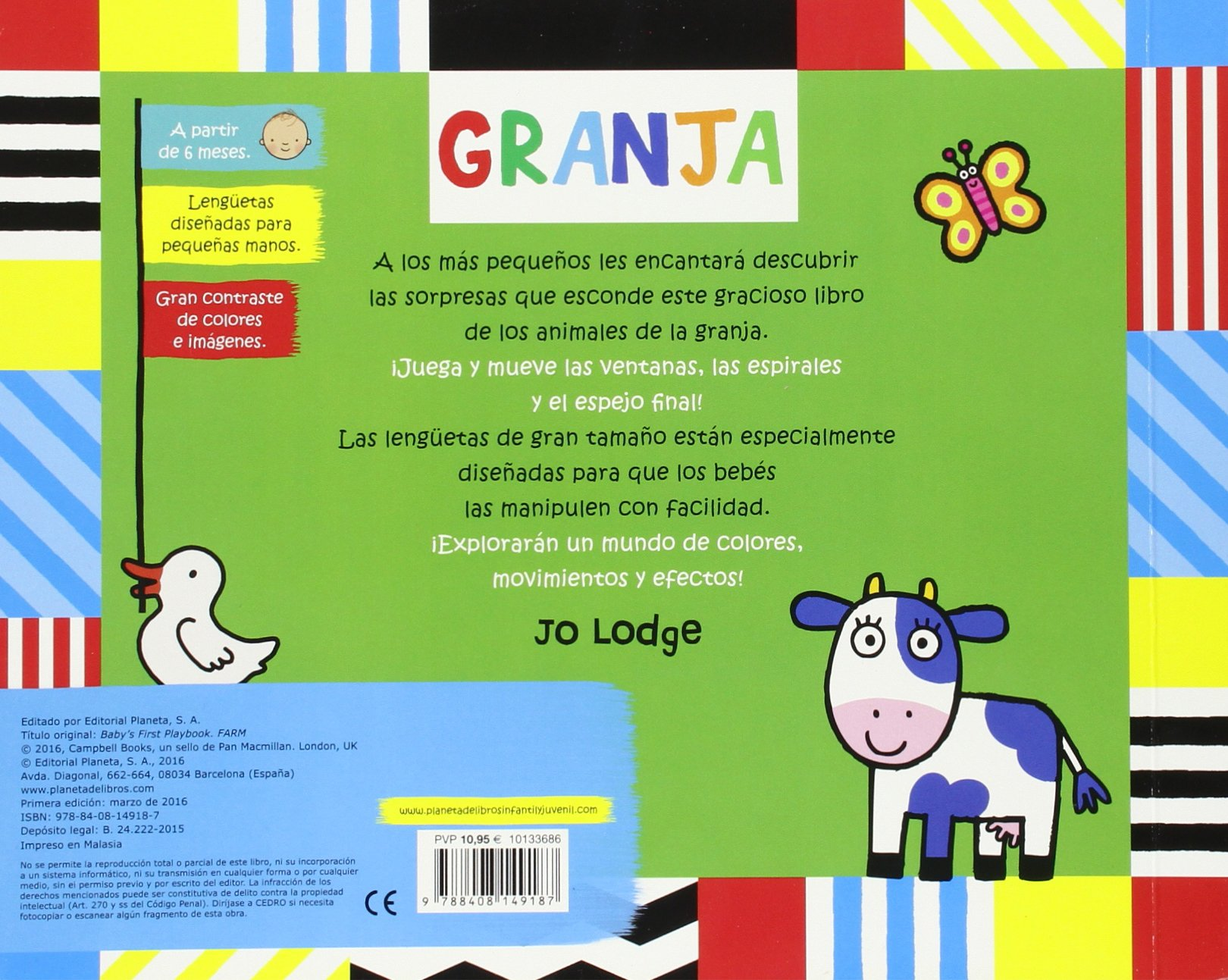 Juegos para bebés. Granja Libros con solapas y lengüetas: Amazon.es: Jo  Lodge, Editorial Planeta: Libros