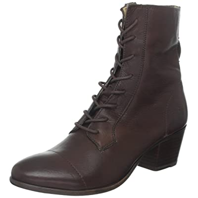 FRYE Women's Courtney Lace-Up Combat Boot   Mid-Calf