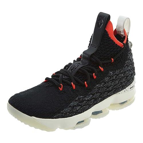 Nike Men s Lebron XV Machine 61 Shoe Black Sail Bright Crimson (8 D 8b78880e34