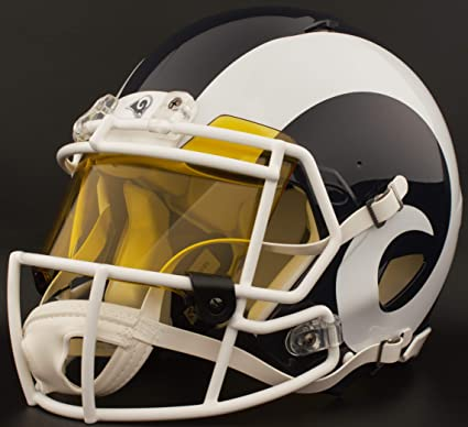 Image Unavailable. Image not available for. Color  Riddell Custom Los  Angeles RAMS Full Size NFL Speed Football Helmet 86303eacd