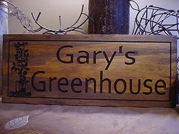 Norma Lily Gewachshaus Schild Aus Holz Bedruckt Personalisierte Holz