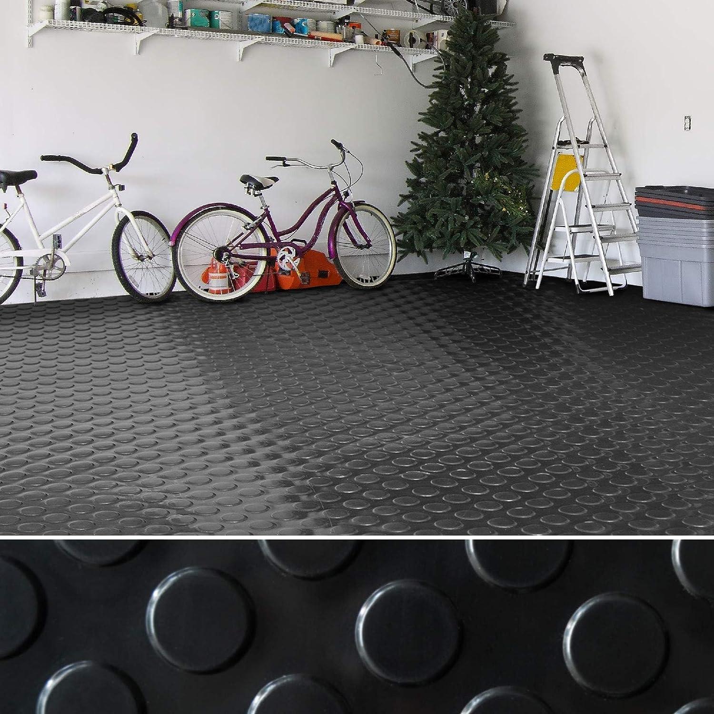 Atelier Tapis de Sol Pastill/é 2.2mm D/épaisseur Coffre Etc Tapis PVC Antid/érapant 120x550 cm Remorque Noir etm Rev/êtement de Sol Garage Protection Pour Garage
