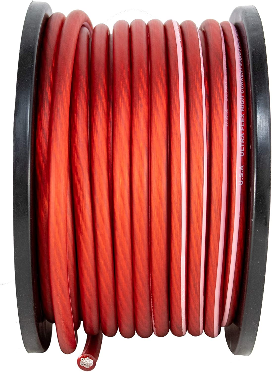 4 AWG 100FT Red Power Ground Wire Cable Copper Mix True AWG GA 81kry67Z2aLSL1500_