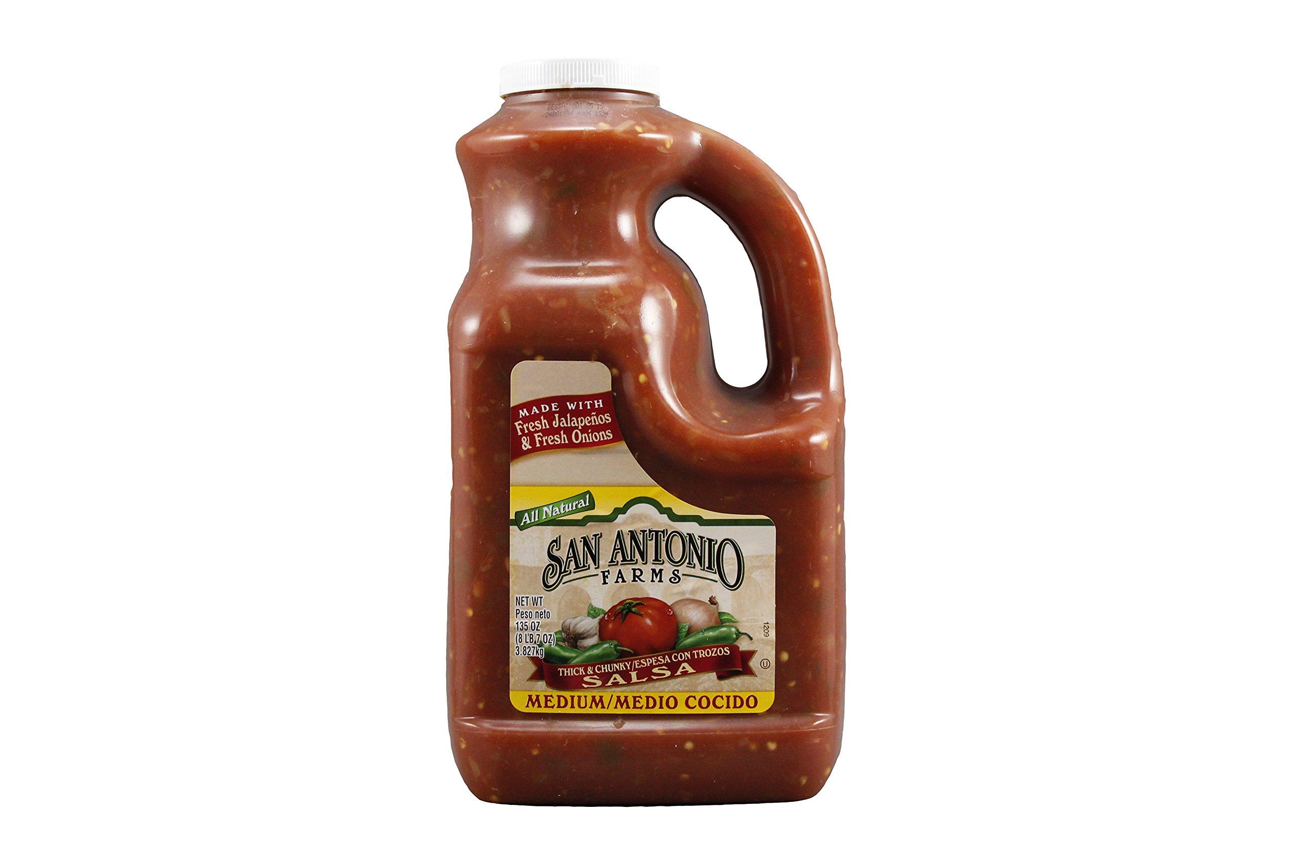 San Antonio Farms Medium Authentic Chunky Salsa, 135 oz., 4 per case by San Antonio Farms