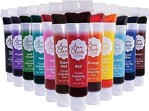 Ann Clark Cookie Cutters Food Coloring Gel 12-Pack