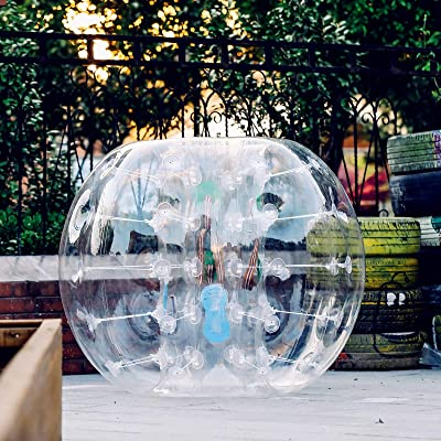 Popsport Inflatable Bumper Ball 4FT Bubble Soccer Ball 0.8mm Eco-Friendly PVC Zorb Ball Human Hamster Ball for Adults and Kids (4FT): Sports & Outdoors