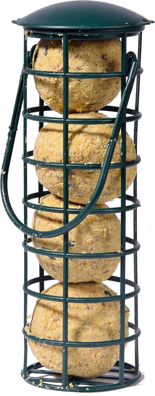 Dobar - Comedero para pájaros (Incluye Cuatro Bolas de cincel, estación de alimentación rellenable para Aves Silvestres, plástico, 1 Unidad de 370 g)
