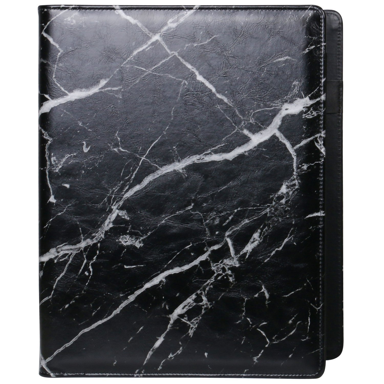 Z PLINRISE Luxury Marble Portfolio File Folder Document Resume Organizer,Padfolio File Holder Folders Letter Size,Standard 3 Ring Binder with Clipboard (Marble Black) by Z PLINRISE (Image #7)