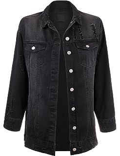 8241b3dbe1577 Amazon.com  Jessica Simpson Women s Peony Relaxed Denim Jacket  Clothing