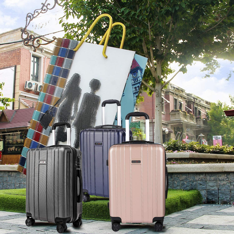 CarryOne Bagage /à Main Bagage l/éger ABS 3 pi/èces avec Valise TD3-Bleu(55cm,64cm,74cm)