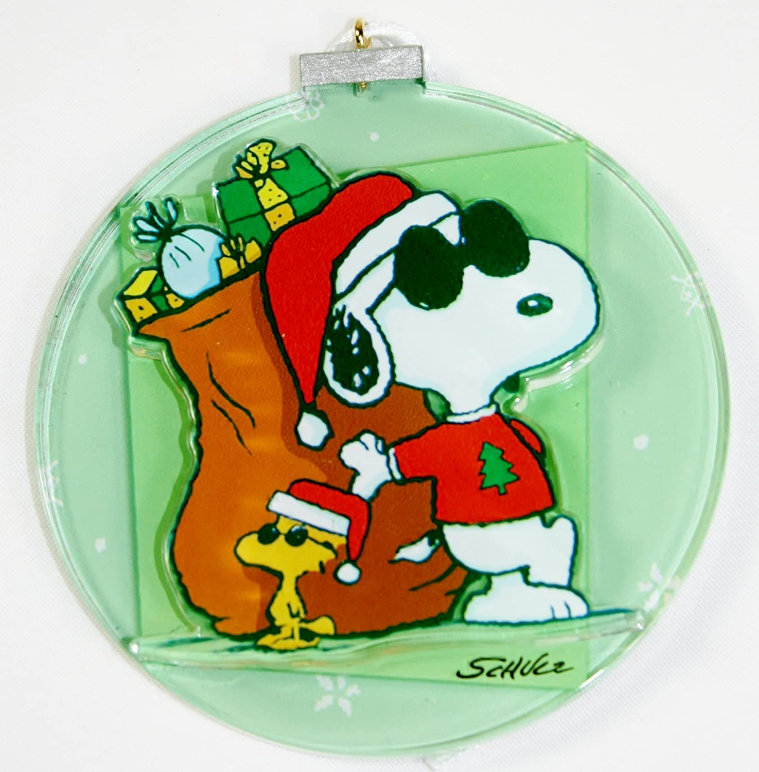 Amazon.com: Peanuts Snoopy and Woodstock Christmas Ornament ...