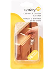 Safety 1st Wide Grip Cabinet and Drawer Latches - 14 Pack, White