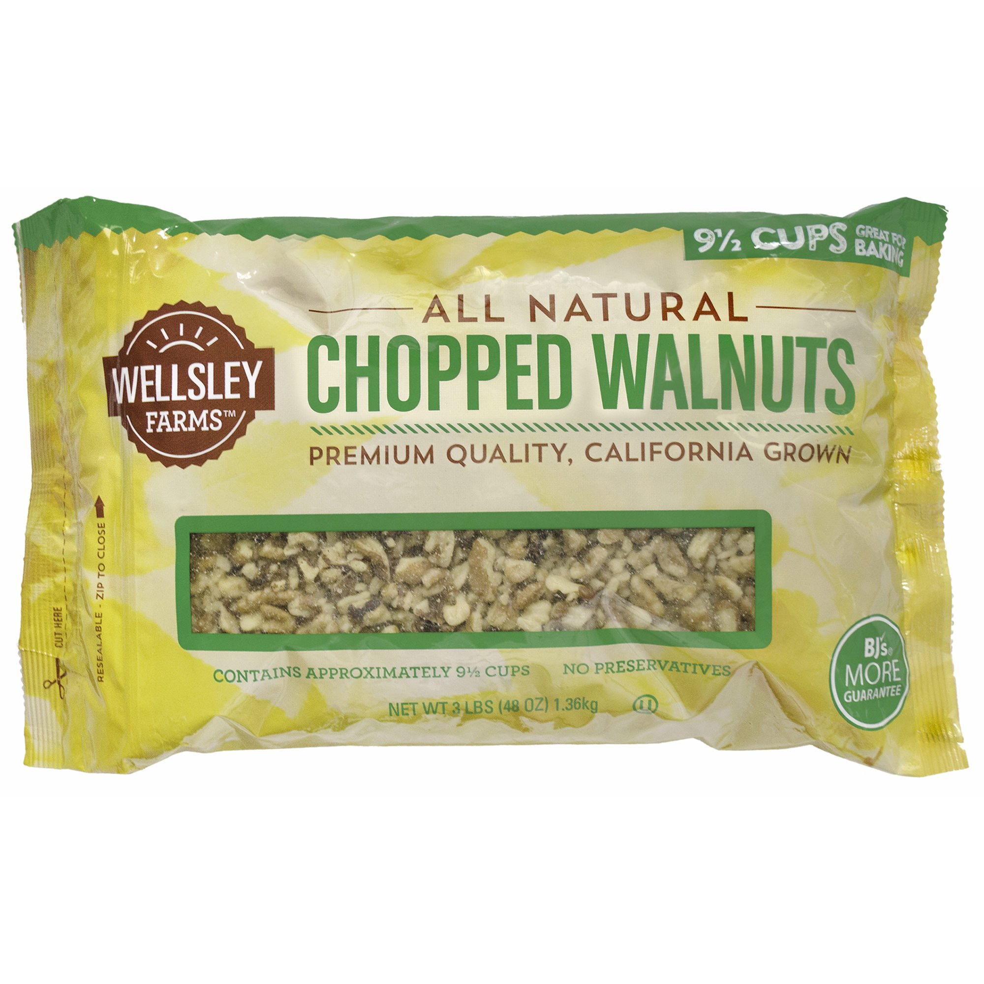 Wellsley Farms Chopped Walnuts, 3 lbs. (pack of 6)