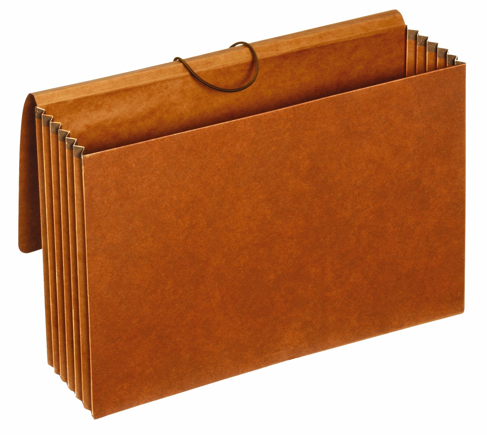 Globe-Weis/Pendaflex Accordion File Wallets, 5.25 Inch Expansion, Mylar Gusset Tops, 10 x 15 Inches, Attorney Size, Brown, 25-Count (B1076G)