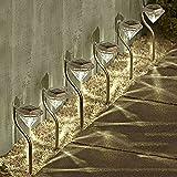 Solalite - Illuminazione a energia solare da giardino, forma a diamanti con picchetti, 6 pz