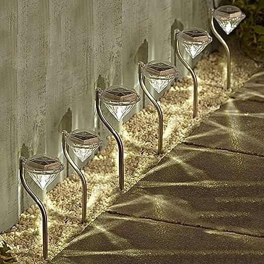 3 opinioni per Solalite- Illuminazione a energia solare da giardino, forma a diamanti con