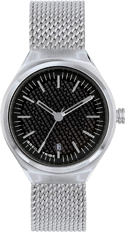 Breil Unisex SPIN Off Reloj Solo Movimiento de Tiempo - 3 Horas de Cuarzo y Acero Mesh de Unisex