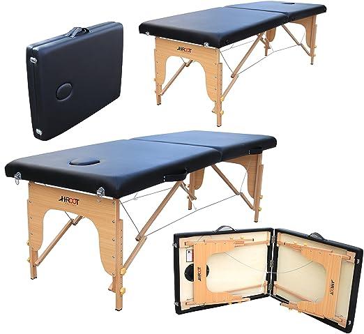 5 opinioni per H-ROOT Lettino da Massaggio 2 Sezioni Portatile Leggero Lettino per Terapia