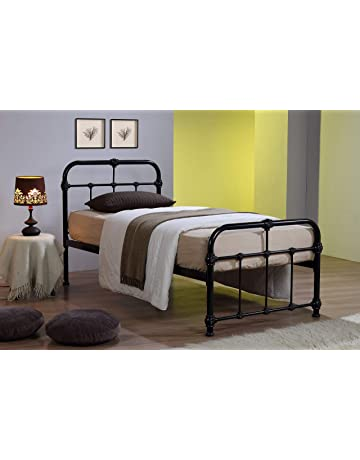 4361a695d4a5b ROYALE COMFORT Mandy Double Metal Bed Frame Black Hospital Style Small  Double King Size Beds