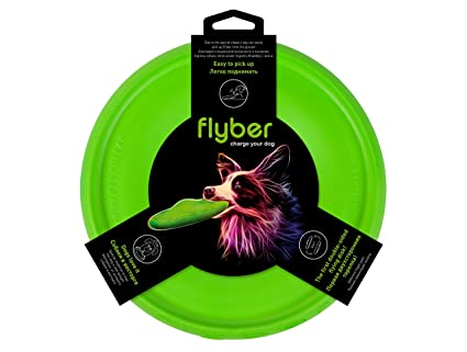 2a4ca812ff0 Flyer Dog Toys by Flyber Plus - Floating Disc Toy 9-inch for Outdoors and  Indoors Games