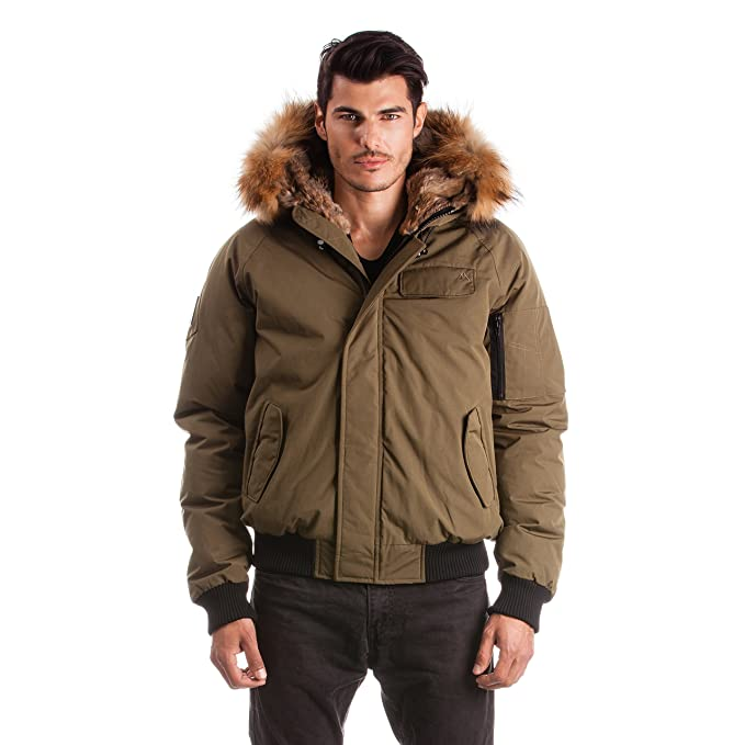 c31499ab7 Arctic North Men's Saint Sauveur Bomber Winter Jacket