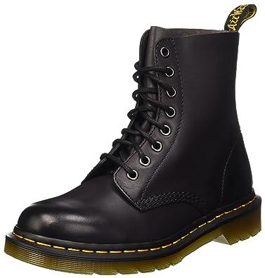Dr. Martens Pascal 8 Eye Boot Boot, Charcoal Antique Temperley, 3 Medium UK