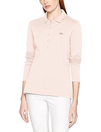 25579614ea7 Lacoste PF7841 Polo Femme Rose (Rose Flamingo T03) 34 (Taille Fabricant  34
