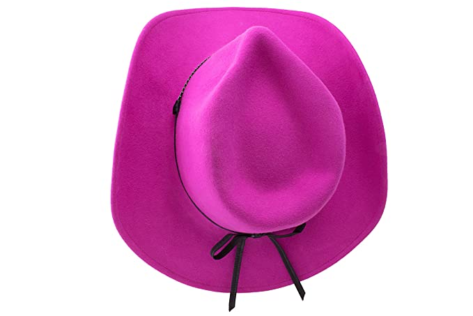 ea7fdd6285c87 Wrangler Tickled Pink - Shapeable Soft Wool Felt Cowgirl Hat (Medium)   Amazon.ca  Clothing   Accessories
