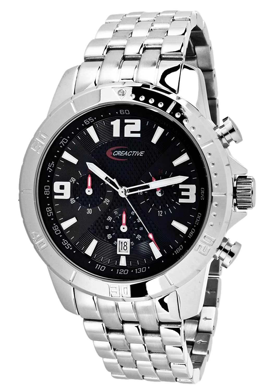 Creactive Herren-Armbanduhr Chronograph Quarz Analog Edelstahl - CA120109